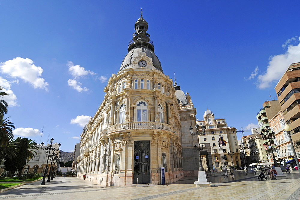Town Hall, Town Hall Square, Cartagena, Murcia Region, Spain, Europe