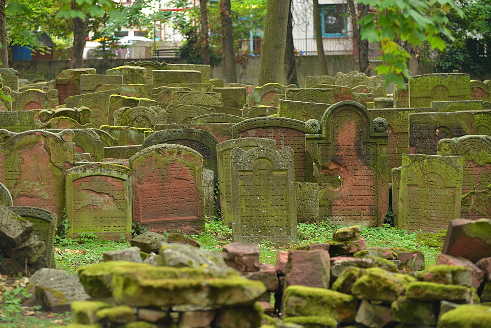 Jewish cemetery, Battonstrasse, Frankfurt on the Main, Hesse, Germany