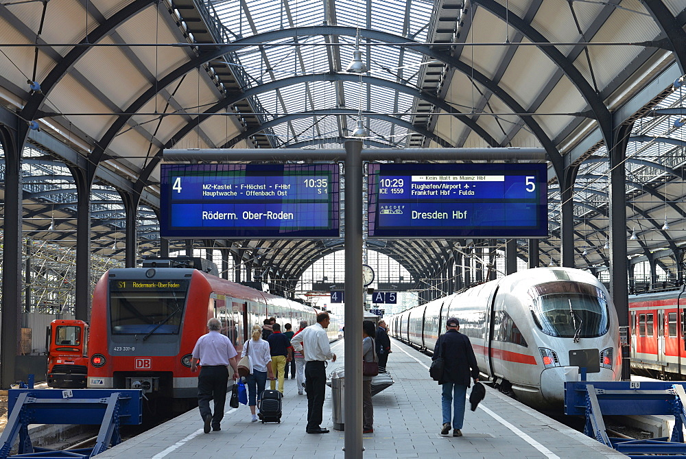 Central station, Wiesbaden, Hesse, Germany