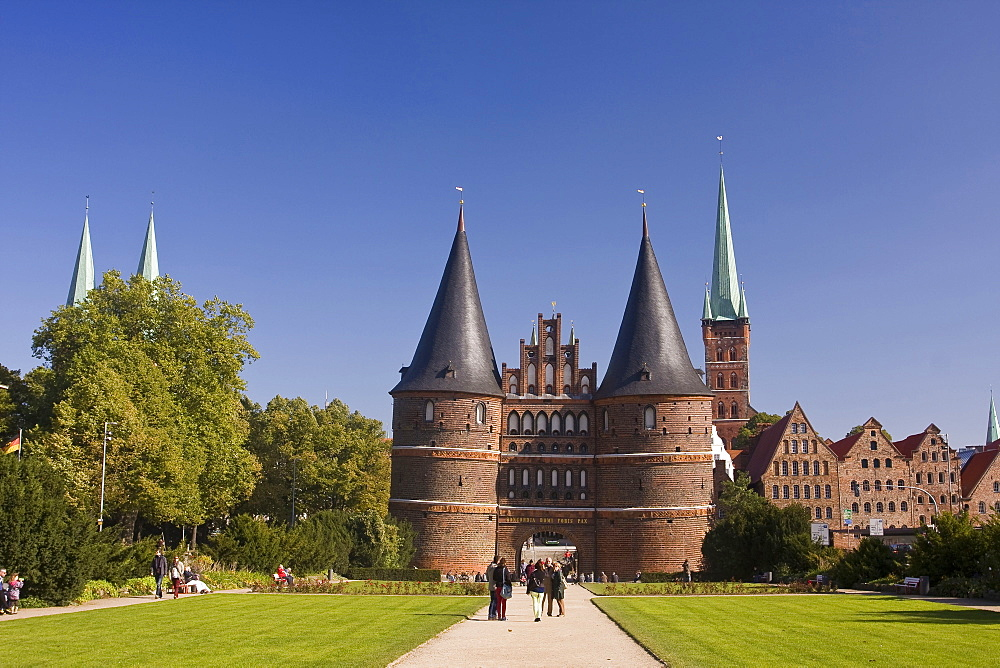 Holstentor, Holsten Gate, Lubeck, Schleswig-Holstein, Germany, Lübeck - 1127-18808