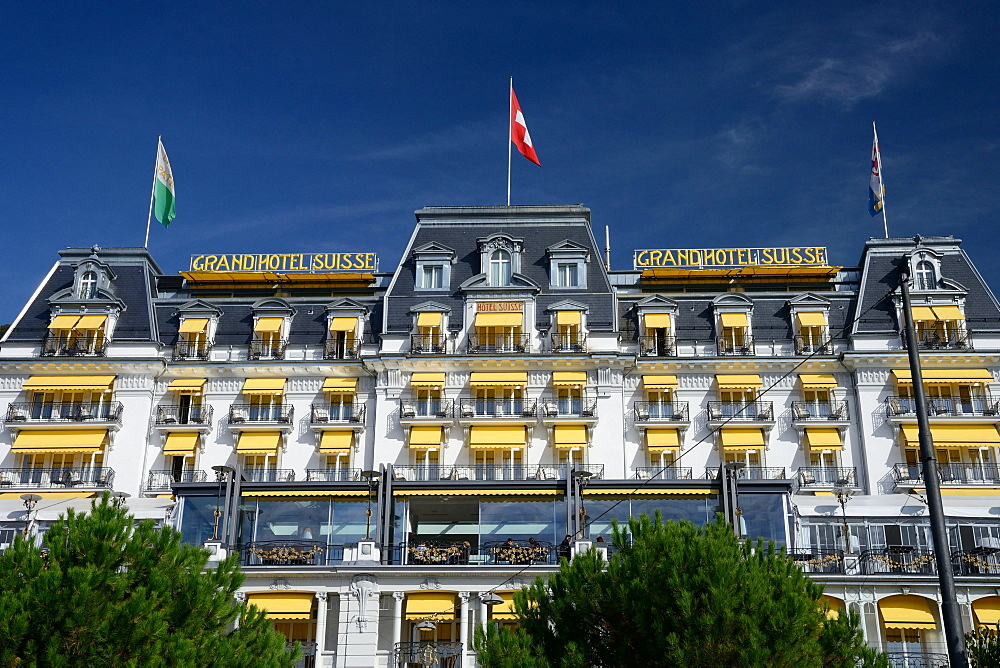 Grand Hotel Suisse Majestic, Luxushotel, Lake Geneva, Montreux, Switzerland