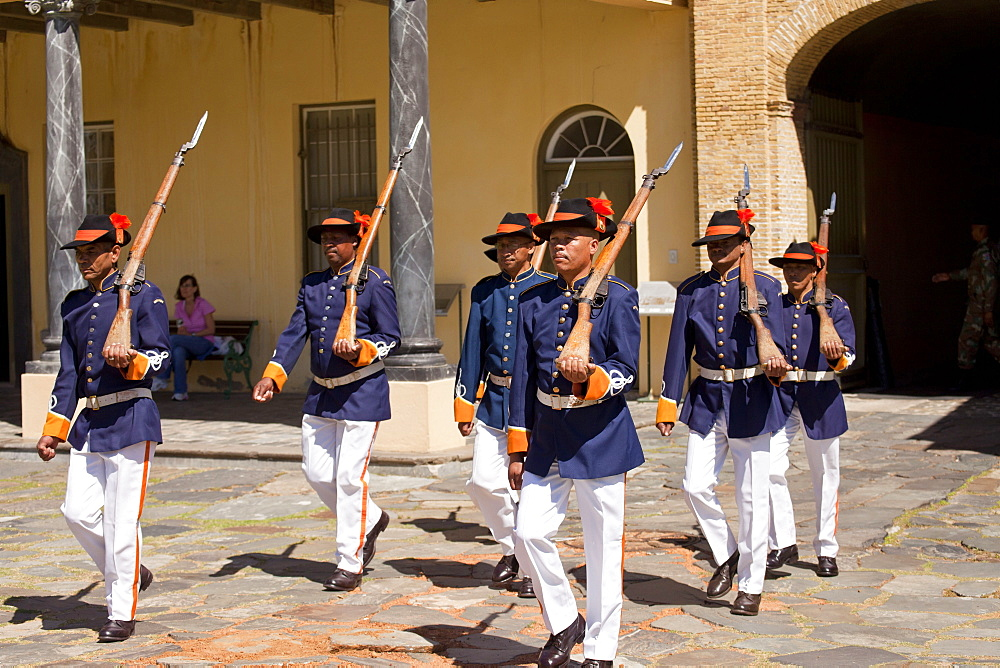 guards in historic uniform during Key Ceremony at Castle of Good Hope, Cape Town, Western Cape, South Africa - 1127-19247