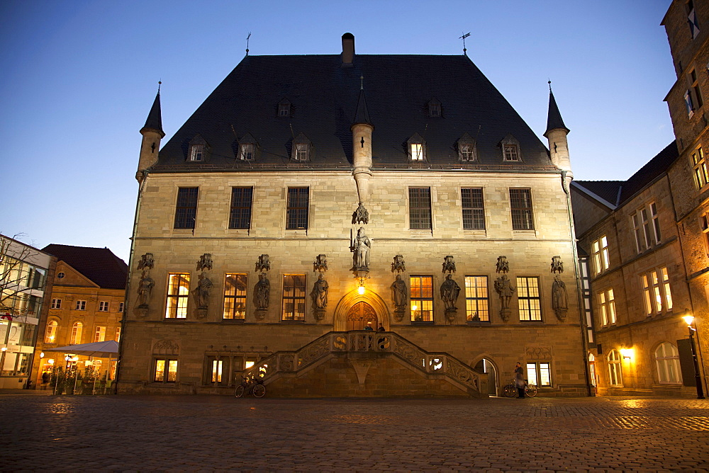 Old Town Hall, signing of the Peace of Westphalia, Osnabruck, Lower Saxony, Germany / Osnabrück