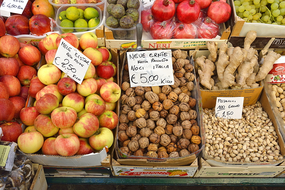 Market stand withs fruit and vegetables