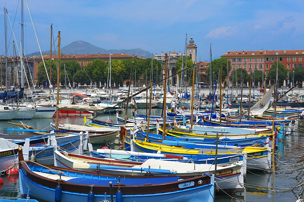 Fishing boats, Port Lympia, Quartier du Port, Old Town, Nice, Cote d?Azur, France