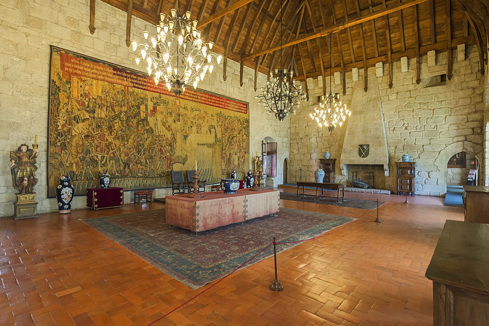 Salon Noble Tapestry, Palace of the Dukes of Braganca, Guimaraes, Minho, Portugal