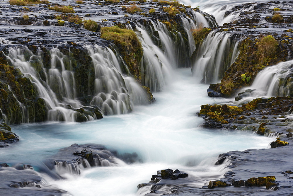 waterfall Bruarfoss at river Bruara, Golden Circle, Southwest Iceland, Europe