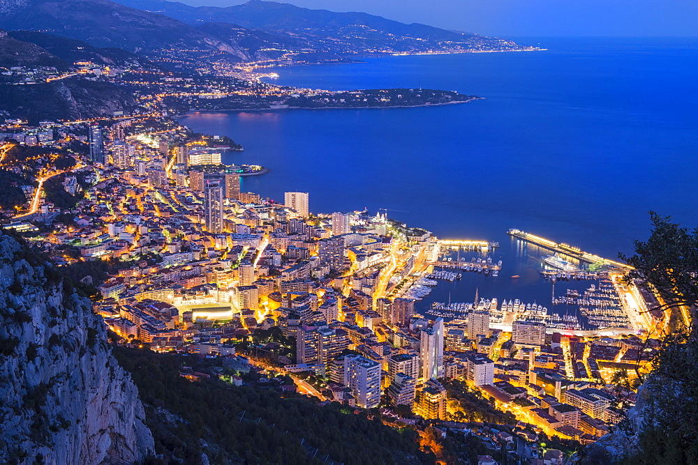 Monaco Principality at sunset