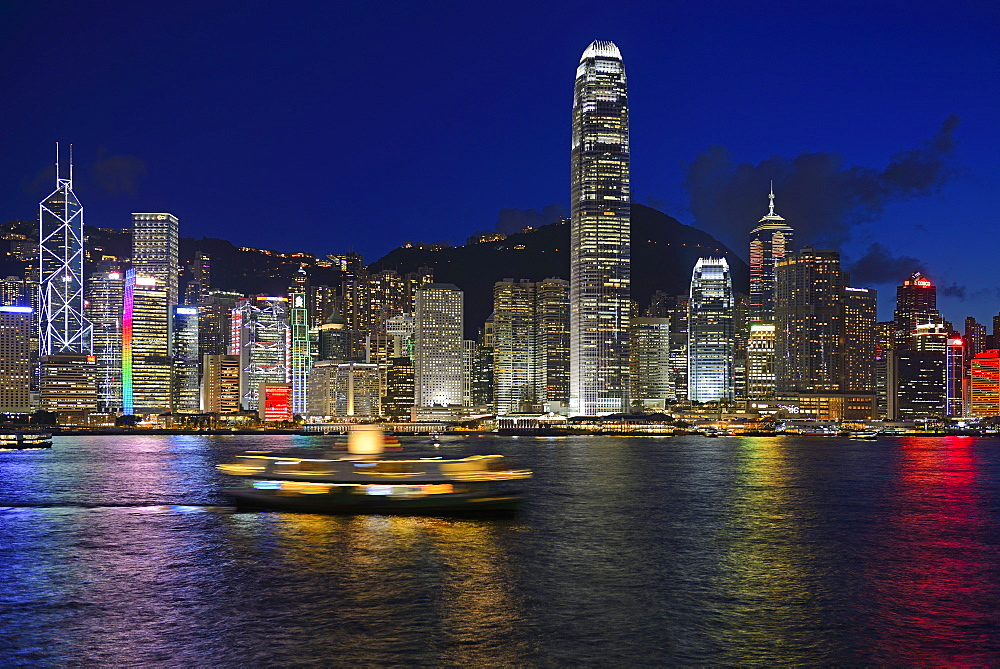 View from Kowloon to Hong Kong Island, Hongkong River, Central, Hongkong, China
