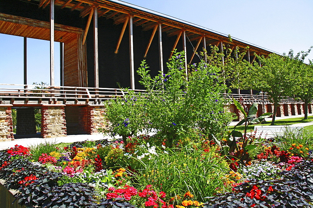 Spa gardens, thorn house, saltworks, Bad Durkheim, Rheinland-Pfalz, Germany / Bad Durkheim