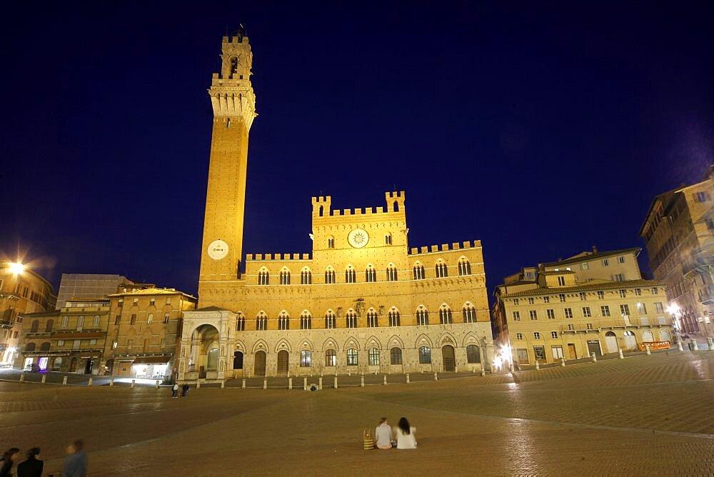 Palazzo Pubblico Tower, Siena, UNESCO World Heritage Site, Tuscany, Italy, Europe