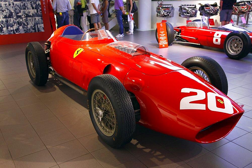 Red Ferrari 246 F1 Racing Car produced in 1958, Maranello, Emilia-Romagna, Italy, Europe