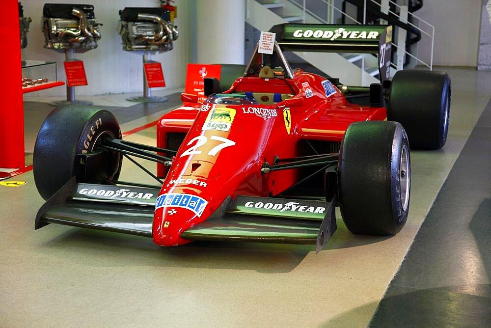 Red Ferrari F156 Racing Car produced in 1985, Maranello, Emilia-Romagna, Italy, Europe
