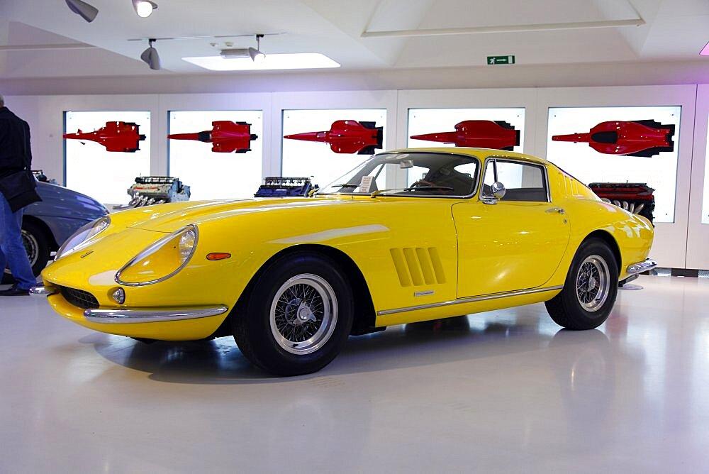 Yellow Ferrari Gtb4 1966, Maranello, Emilia-Romagna, Italy, Europe
