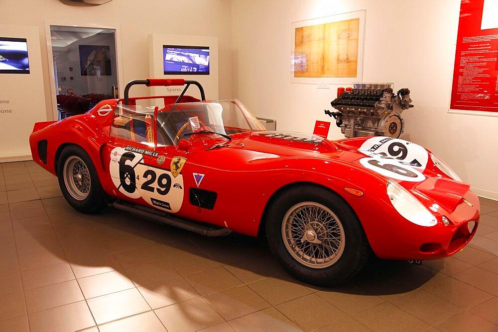 Red Ferrari 330 Tri Lm 1962, Maranello, Emilia-Romagna, Italy, Europ