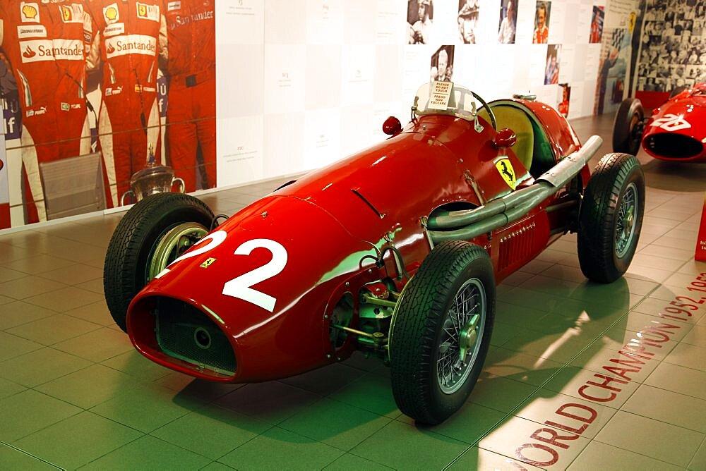 Red Ferrari 500 F2 1951, Maranello, Emilia-Romagna, Italy, Europe