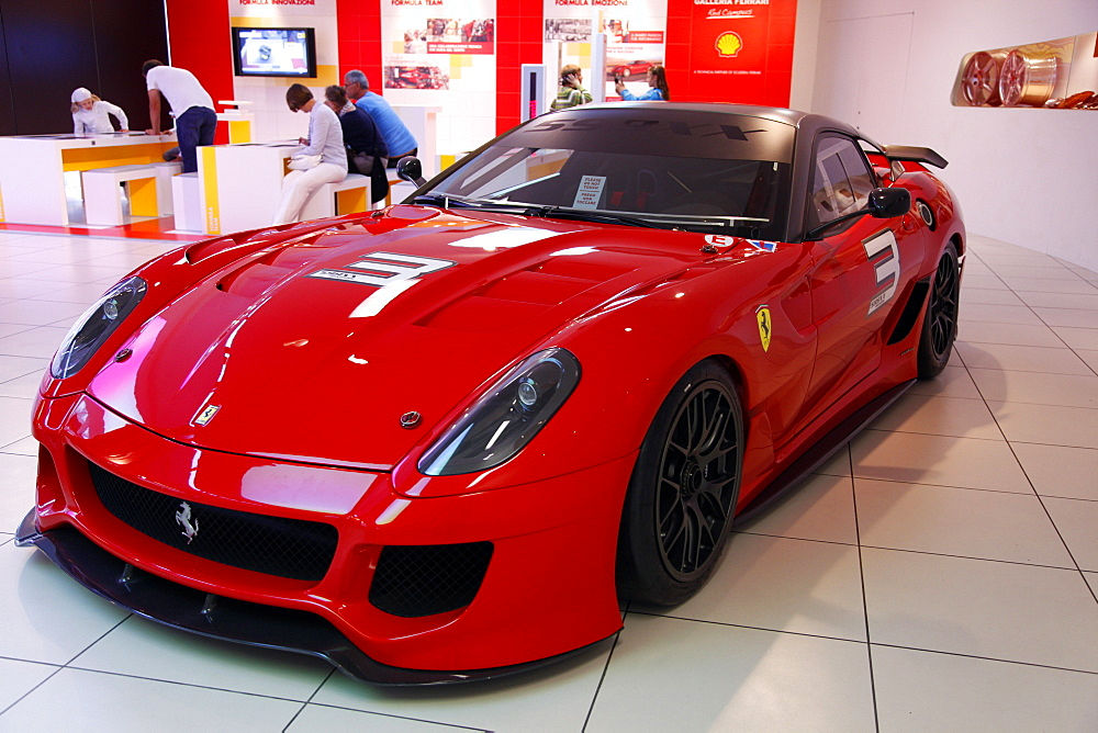Red Ferrari F599 Xx 2010, Maranello, Emilia-Romagna, Italy, Europe