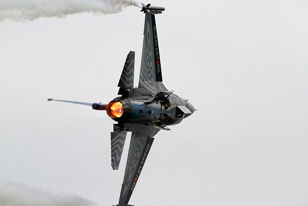 F-16am Jet Fighter, Waddington, Lincolnshire, England, United Kingdom, Europe