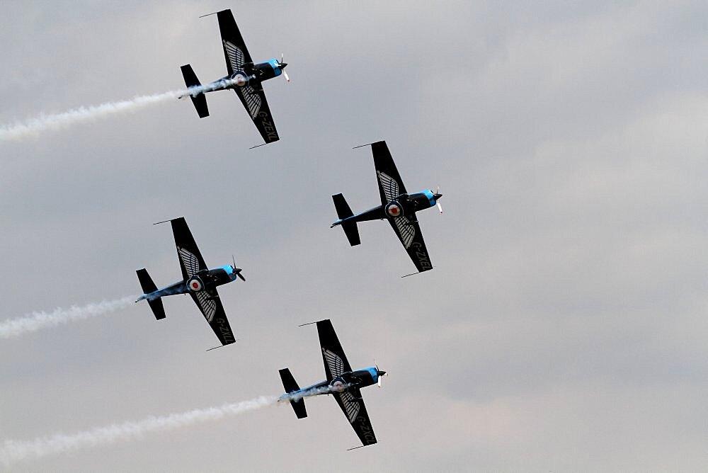 Four Extra Aerobatics Planes, Waddington, Lincolnshire, England,