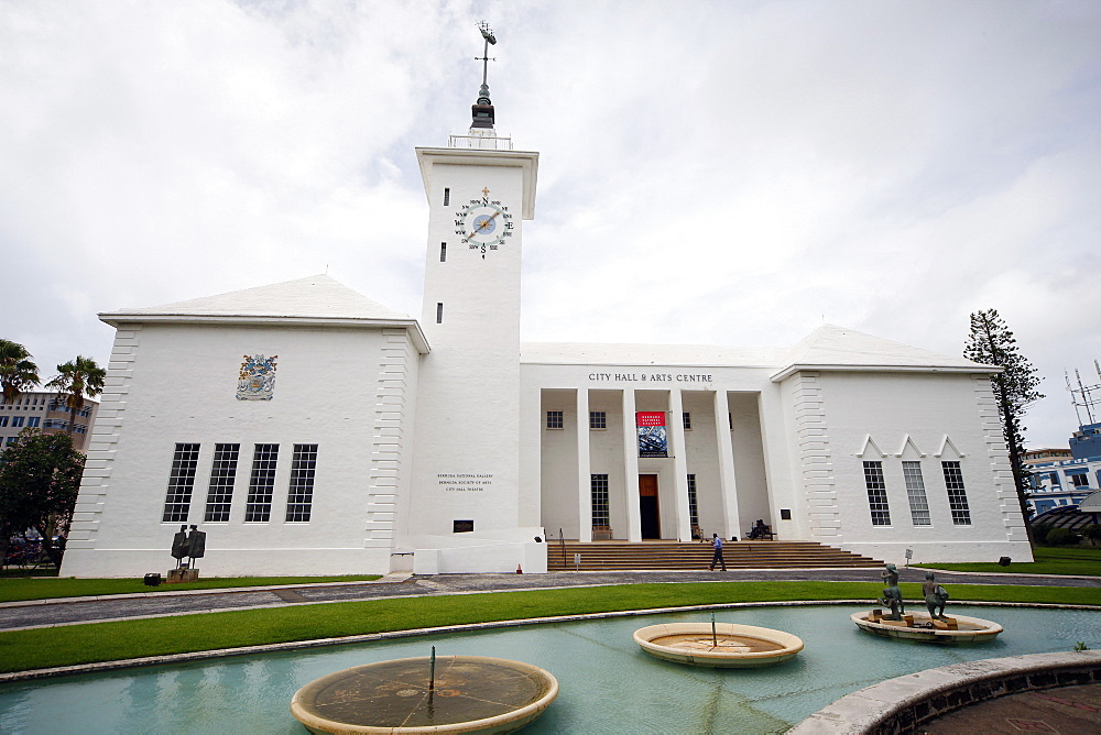 City Hall And Arts Centre, Hamilton, Bermuda Islands, North Atlantic Ocean, Atlantic