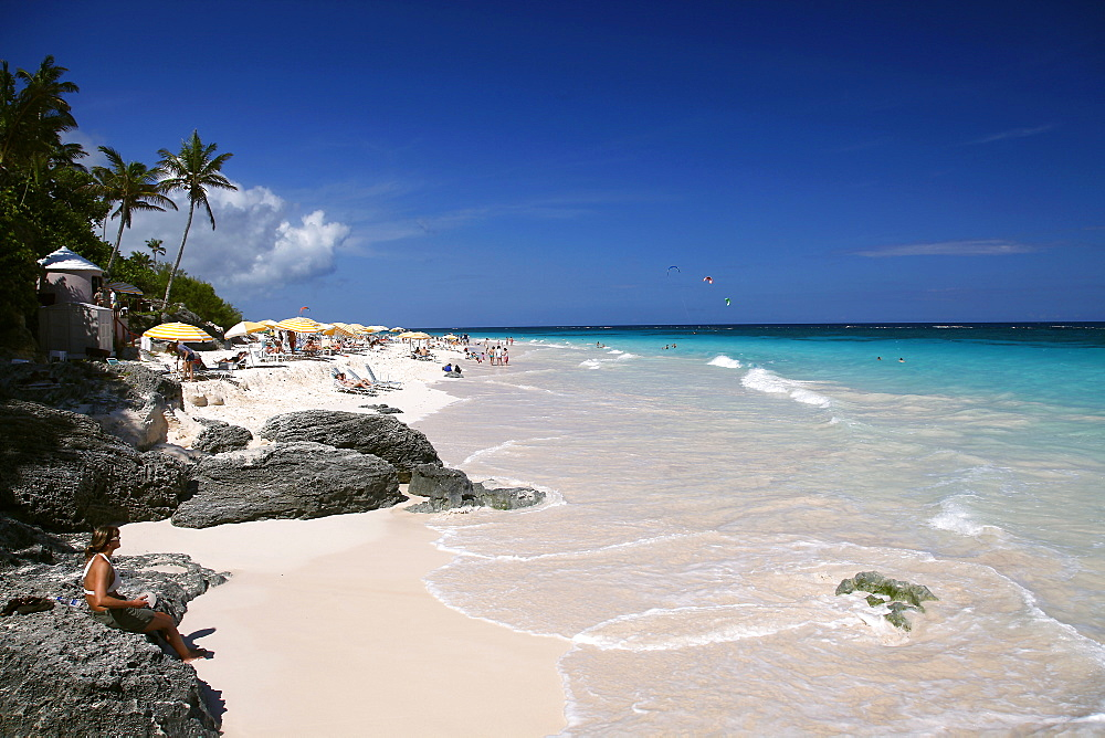 Pink sands of Elbow Beach, Bermuda Islands, North Atlantic Ocean, Atlantic