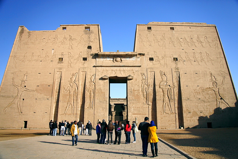 First Temple of Horus pylon, Edfu, Egypt, North Africa, Africa