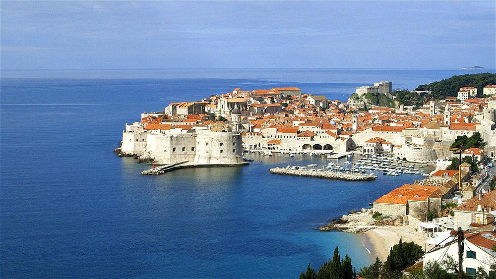Dubrovnik Fortress & Port, Old Town, Dubrovnik, Croatia