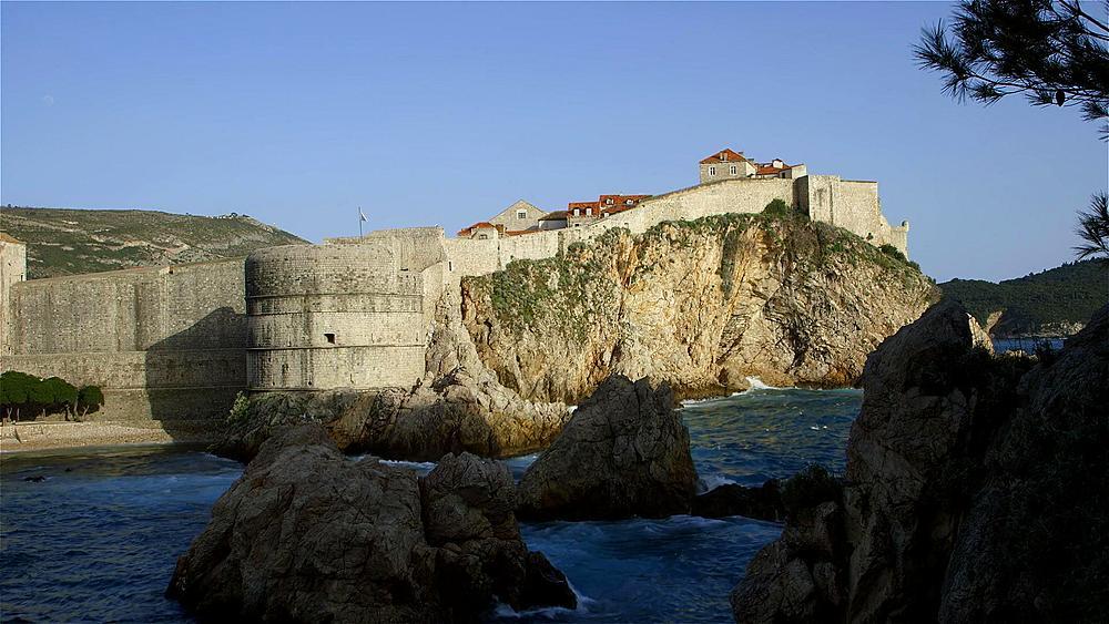 Bokar Fortress From Fort Lovrijenac, Old Town, Dubrovnik, Croatia