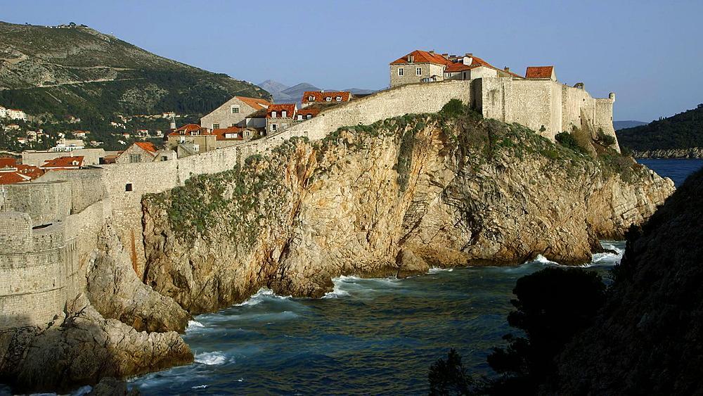 Bokar Fortress & Adriatic Sea, Old Town, Dubrovnik, Croatia