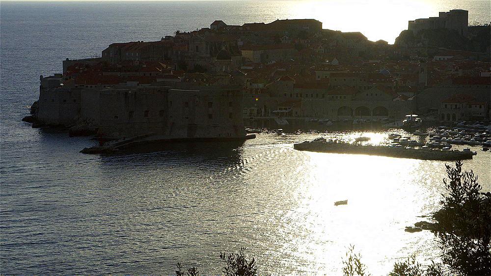 Dusk Falls On Old Town & Port, Old Town, Dubrovnik, Croatia