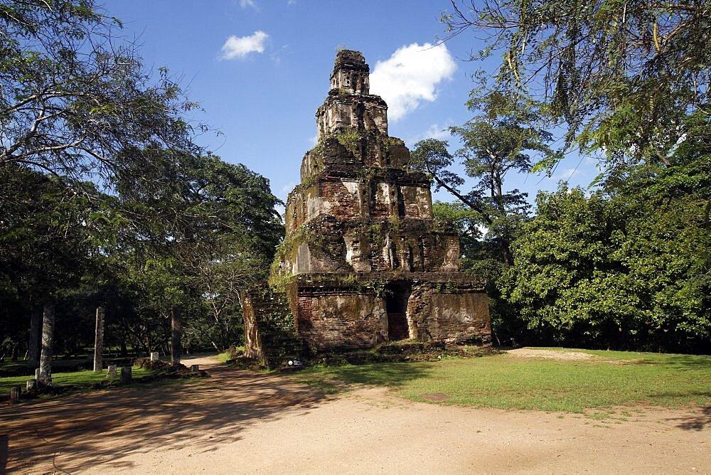 Sathmahal Prasadaya, Polonnaruwa, UNESCO World Heritage Site, Sri Lanka, Asia