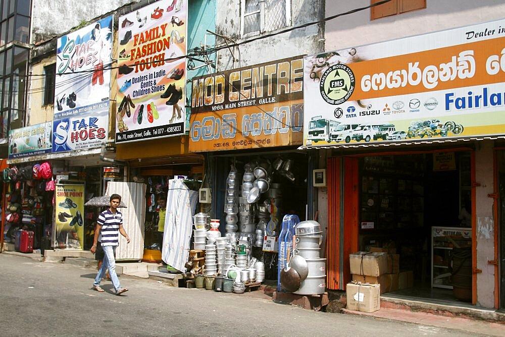 Metal pots and pans shop, Galle, Sri Lanka, Asia