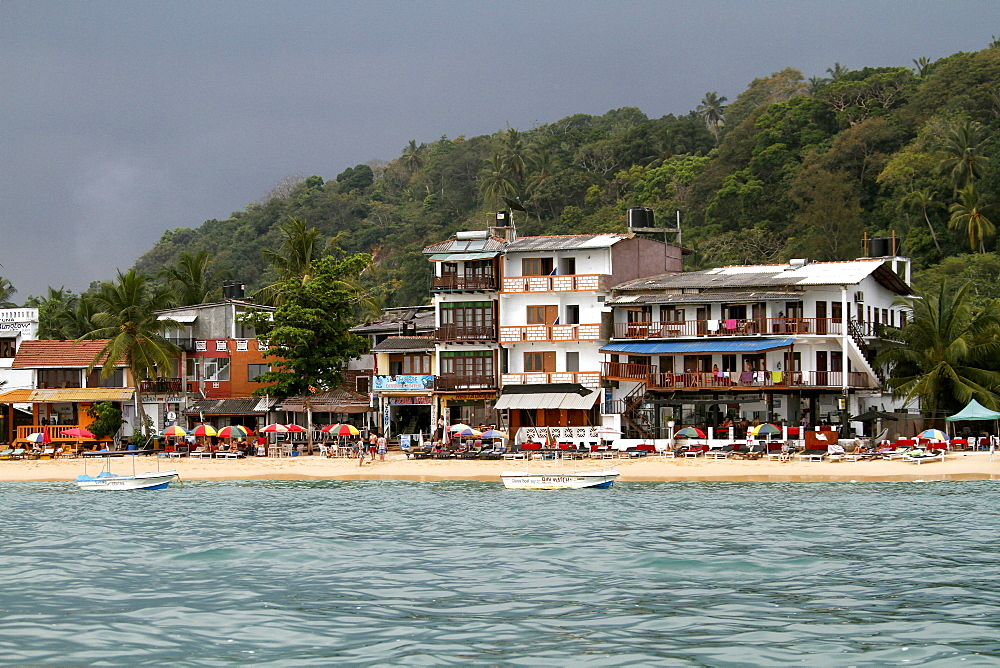 Beach apartments, Unawatuna, Sri Lanka, Asia