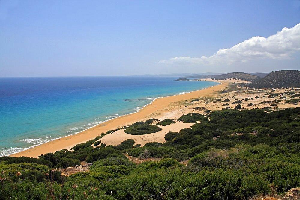 Golden Beach, Karpas Peninsula, Northern Cyprus, Mediterranean, Europe