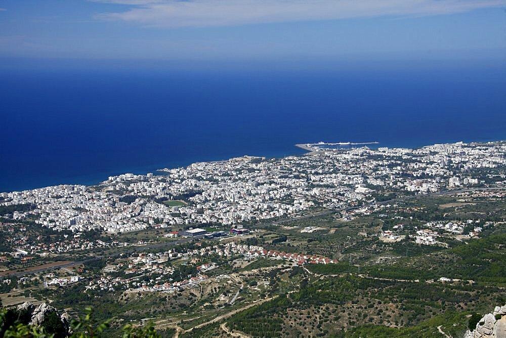 Kyrenia and Mediterranean Sea, Kyrenia, Northern Cyprus, Mediterranean, Europe