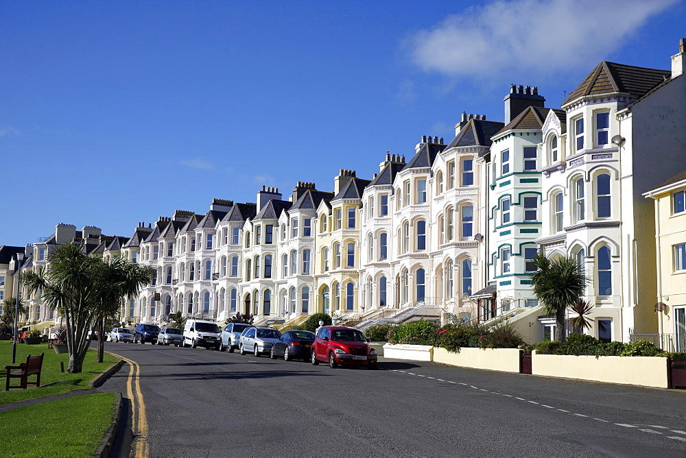 Houses on The Promenade, Isle of Man, British Isles, Europe