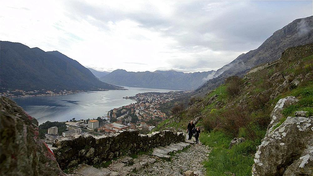 View of kotor & kotor bay from fortress