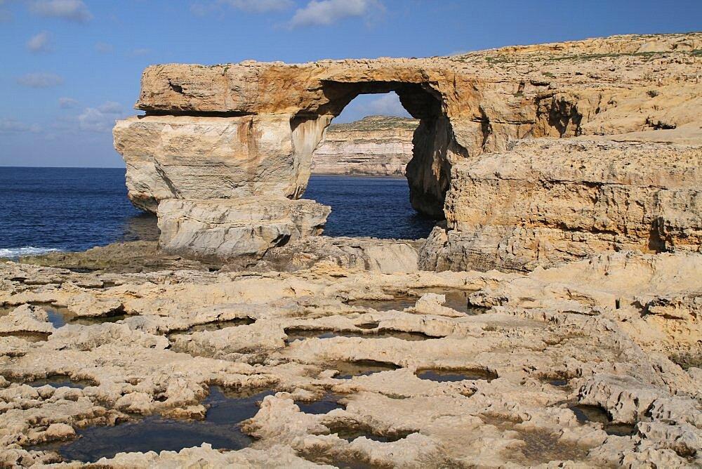 Fungus Rock Black Lagoon, Gozo, Malta, Mediterranean, Europe