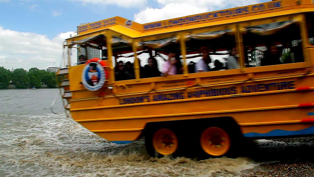 London Duck Tours Amphibious Vehicle, River Thames, London