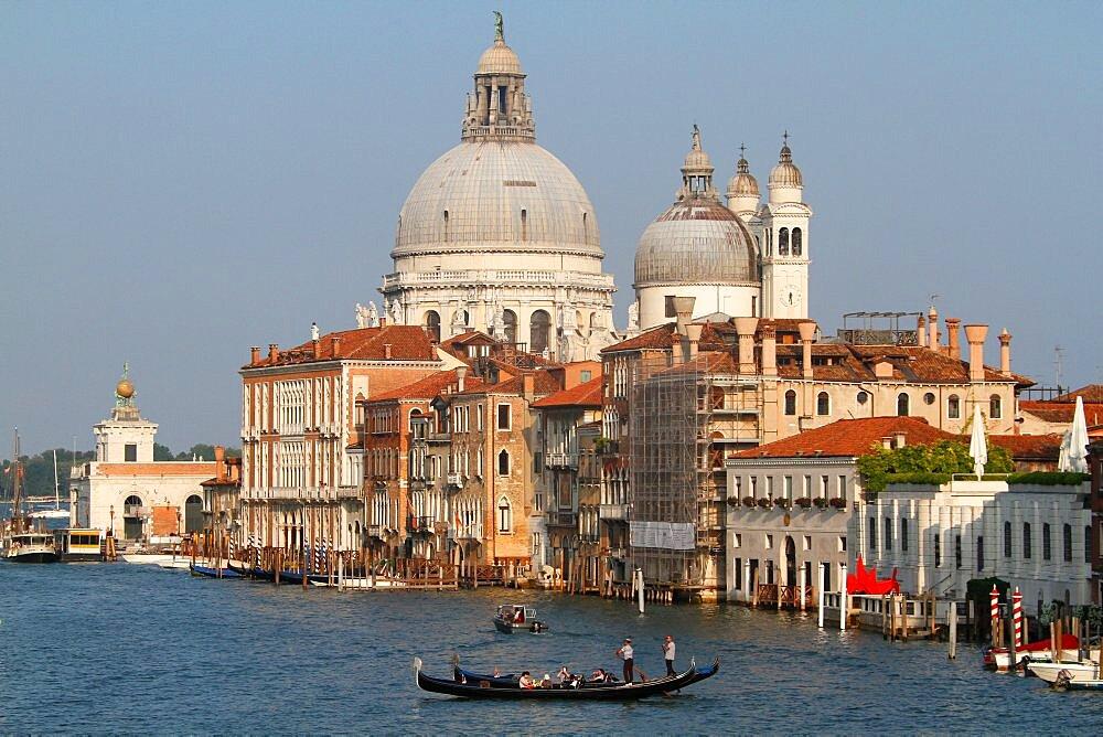 GONDOLA'S & BASILICA DI SANTA MARIA DELLA SALUTEGRAND CANAL, VENICE, ITALYVENICE DAY 4VENICE, VENEZIA, ITALY04 August 2014DIG24354