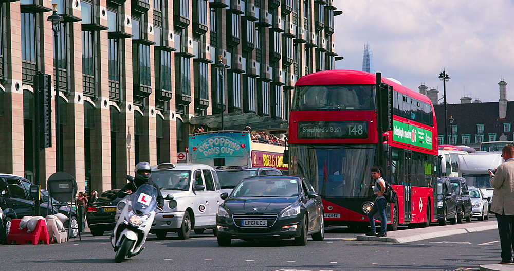 Red London bus & London taxi