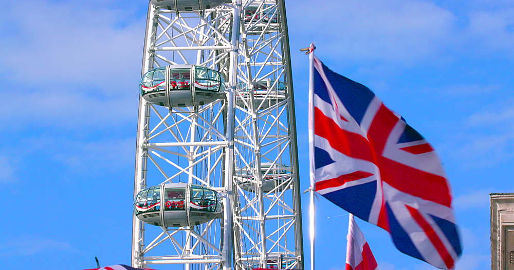 London eye & union jack flag - 1130-5373