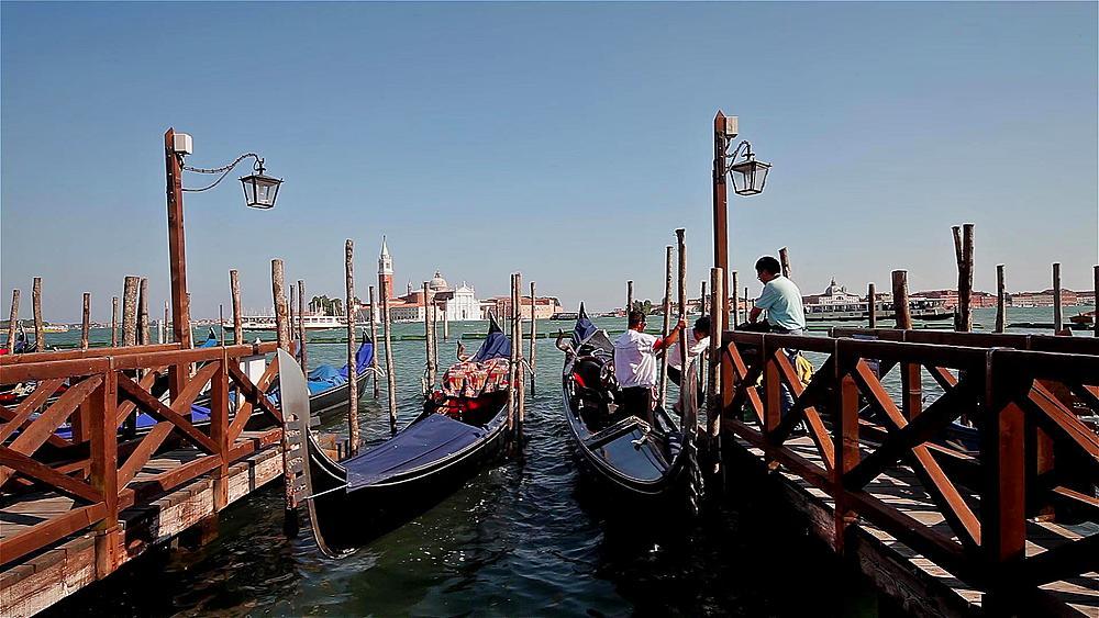 Tourists AfterGondola Trip, Venice, Italy
