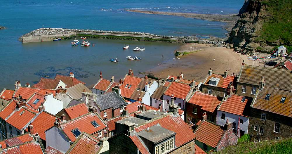 Rooftop view of houses and harbour - 1130-6405