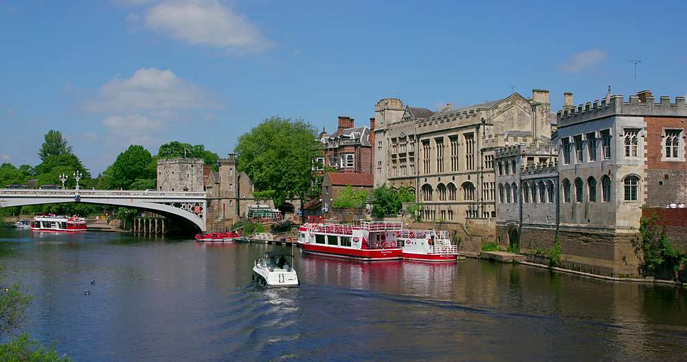 River ouse & lendal bridge, york city centre, York, North Yorkshire, United Kingdom - 1130-6438
