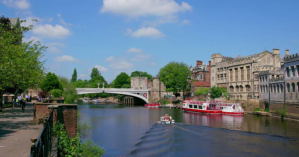 River ouse & lendal bridge, york city centre, York, North Yorkshire, United Kingdom - 1130-6439