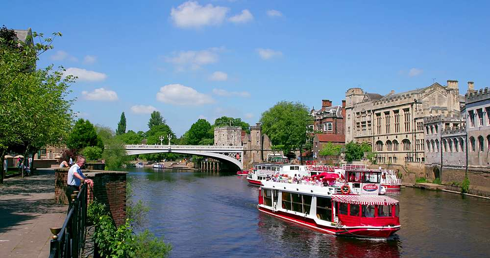 River ouse & lendal bridge, york city centre, York, North Yorkshire, United Kingdom - 1130-6440