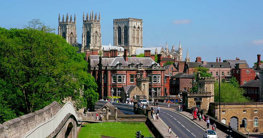 York minster, lendal bridge & city walls, york city centre, York, North Yorkshire, United Kingdom - 1130-6446
