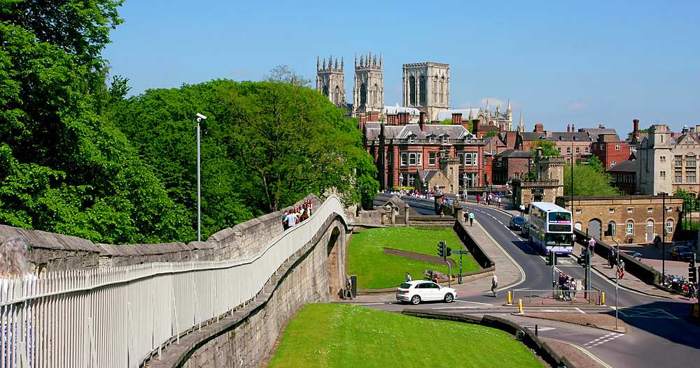 York minster, lendal bridge & city walls, york city centre, York, North Yorkshire, United Kingdom - 1130-6448
