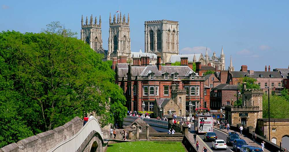 York minster, lendal bridge & city walls, york city centre, York, North Yorkshire, United Kingdom - 1130-6449